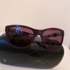 Dark Purple Chanel Sunglasses